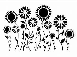 "11.7/16.5"" Flower border or background stencil. A3. from ..."