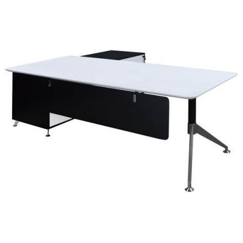 black and white desk l morgan executive l shape veneer desk with right return
