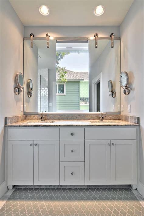 Custom Kitchen Island Ideas - vanity mirror ideas bathroom transitional with are rug barn door beeyoutifullife com