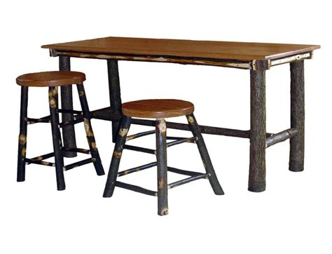 hickory rectangular pub table details
