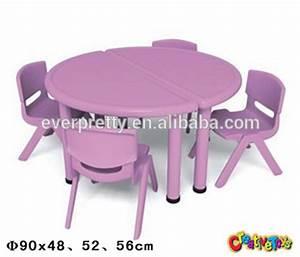 Table Ronde Plastique : ronde en plastique tables et chaises d 39 enfants enfants chaise de table en plastique meubles ~ Teatrodelosmanantiales.com Idées de Décoration