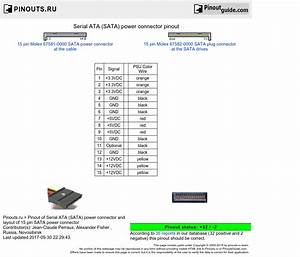 Sata Power Connector Pinout Diagram   Pinoutguide Com