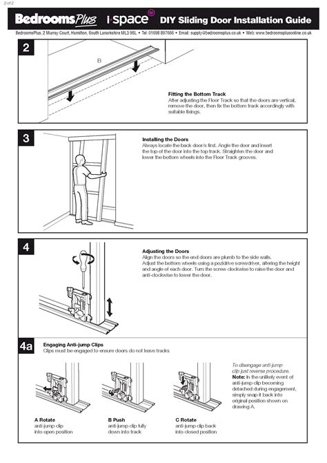 installation bureau spacepro stanley sliding wardrobe doors spare parts and