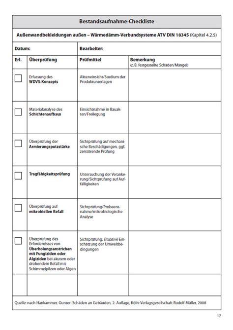 Kinderzimmer Aufräumen Checkliste by Checklisten Zur Bestandsaufnahme An Geb 228 Uden Bauleiter