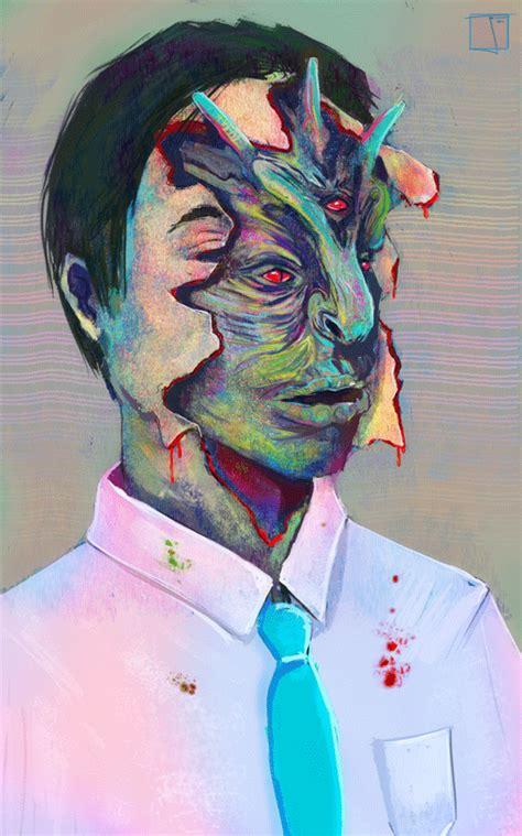 illuminati psychedelia demonic gif find  gifer