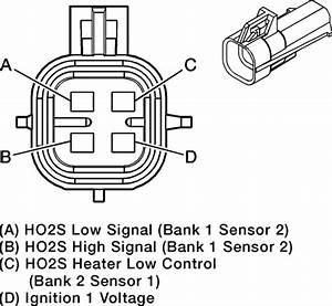 Toyota Camry Oxygen Sensor Heater Control Circuit Low Bank