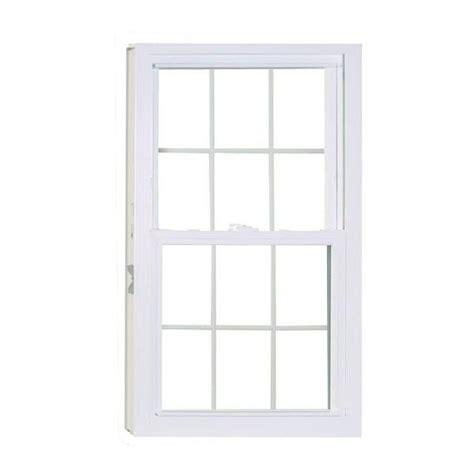 american craftsman       series double hung white vinyl window  buck frame
