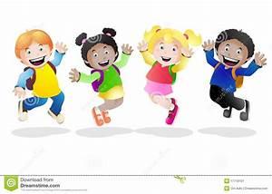 Happy school stock illustration. Illustration of friends ...