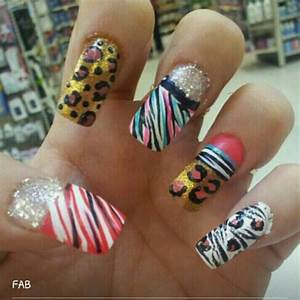 Hand painted nail designs for snooki promotion nails
