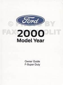 2000 Ford Powerstroke 7 3l Diesel Engine Owner U0026 39 S Manual Supplement Original