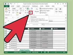 In Excel Eine Zeitachse Erstellen  U2013 Wikihow