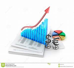 Business Analysis  Charts And Growth Graph Stock Illustration