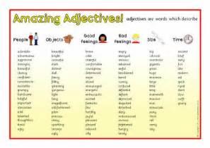 Kids Adjective List