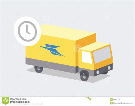 just in delivery just in time post stock illustration image