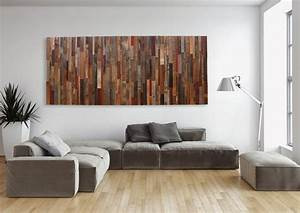Large wood wall art made of old reclaimed barnwood different
