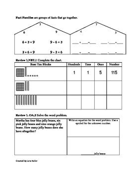1st Grade Addition And Subtraction Strategies Worksheets 1oa3 By Jane Keller