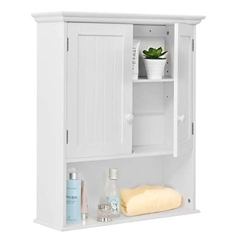 tangkula wall mount bathroom cabinet storage organizer
