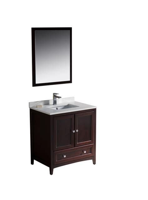 30 inch bathroom sink 30 inch single sink bathroom vanity in mahogany uvfvn2030mh30