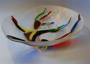 Handmade Fused Glass Bowl With Leaping Dancer by Paradise