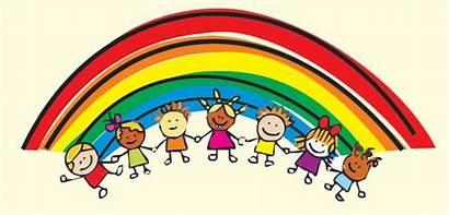 Rainbow Clipart Children Cartoon Clip Child Character