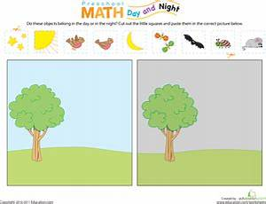 Preschool Math: Day and Night   File folder games ...