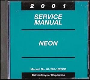 2001 Neon Repair Shop Manual Original
