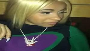 Cardi B #Illuminati necklace gift from boyfriend Offset of ...