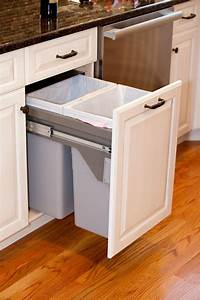 best 25 kitchen trash cans ideas on pinterest hidden With kitchen colors with white cabinets with garbage stickers