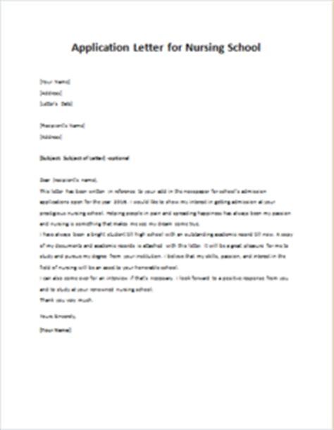application letter for nursing school writeletter2