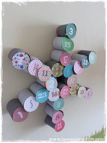 creation avec rouleau papier toilette bricolage en rouleaux de papier toilette 5 un calendrier de l avent la cour des petits