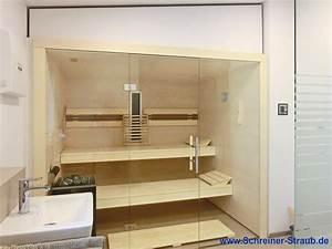 Sauna Mit Glasfront : badezimmer sauna sauna im eigenen bad schreiner straub ~ Whattoseeinmadrid.com Haus und Dekorationen