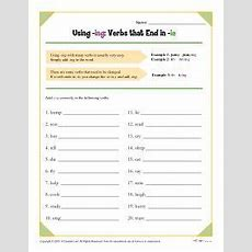 Using Ing Verbs That End In Ie  Spelling Worksheets  Pinterest  Spelling Patterns