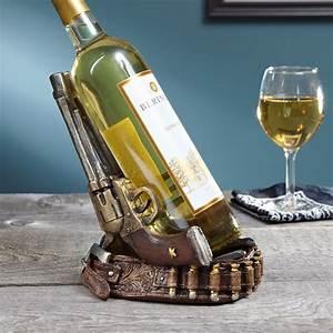Twin, Pistols, Wine, Bottle, Holder