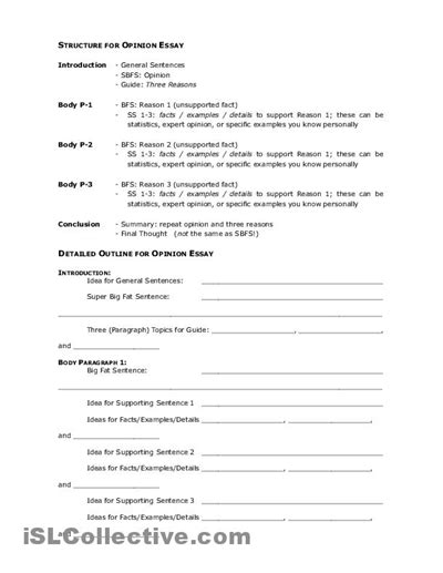 16 best images of argumentative essay outline worksheet