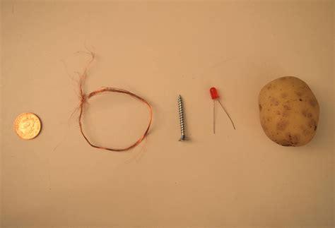 40 potato battery light bulb science project data