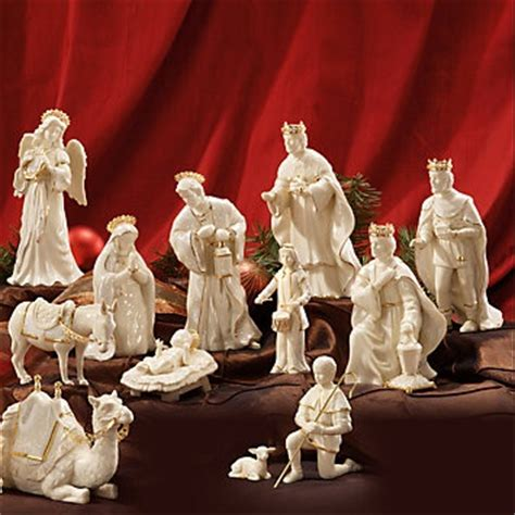lenox innocence nativity  piece complete set christmas