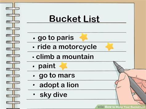 How To Make Your Bucket List (with Pictures) Wikihow