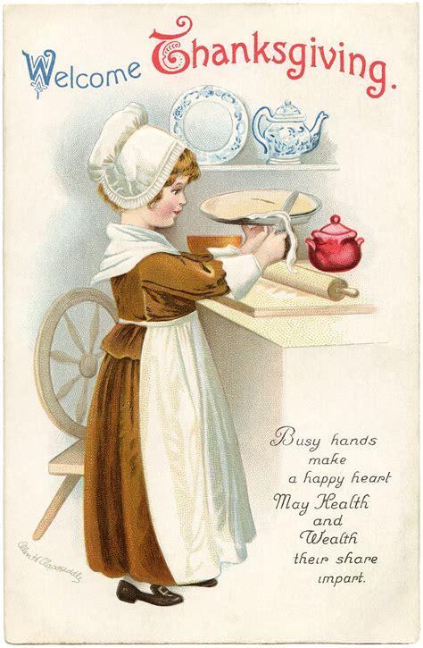 vintage thanksgiving clip art  graphics fairy