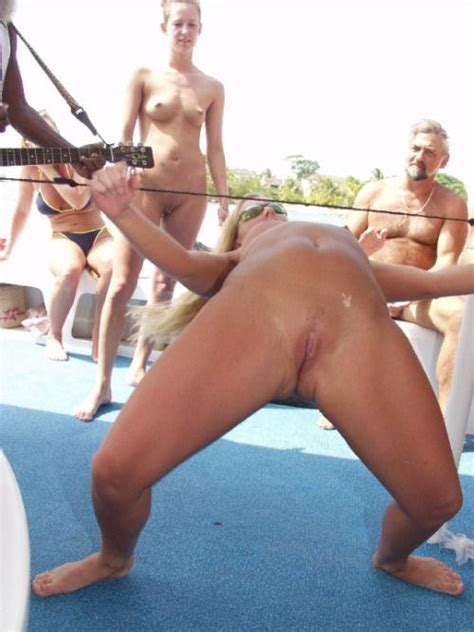 Doing the limbo naked at the party - Xxx Photo