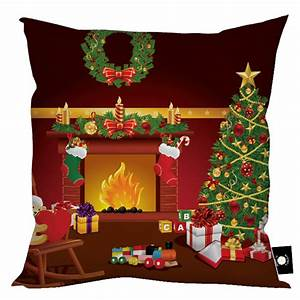 Christmas Fireplace Cushion