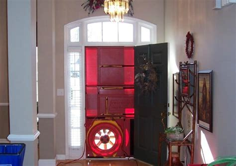 blower door test hvac system and external venting fresh air intake how