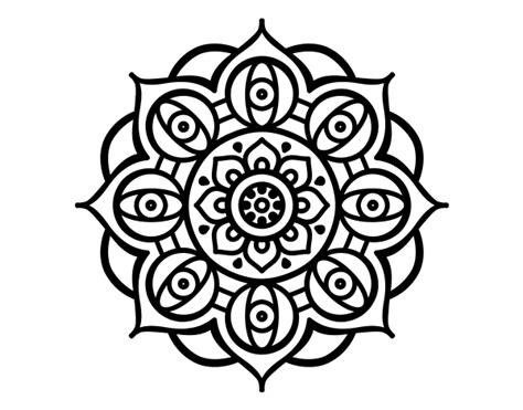 Dibujo de Mandala ojos abiertos para Colorear (con