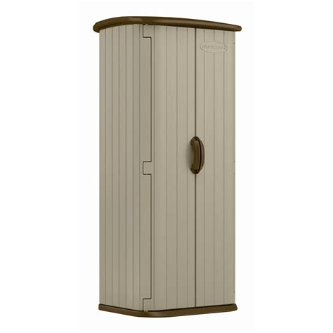 suncast 0 82 x 0 67 x 1 8m resin vertical storage shed