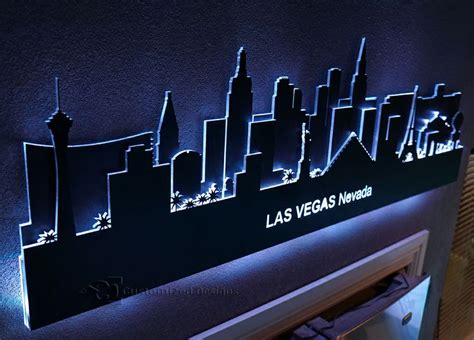 vegas skyline led lighted wall lighted decor
