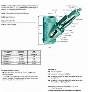 Baird Manufacturer 2 U201d Inline Bpr U00ae Back Pressure Regulator