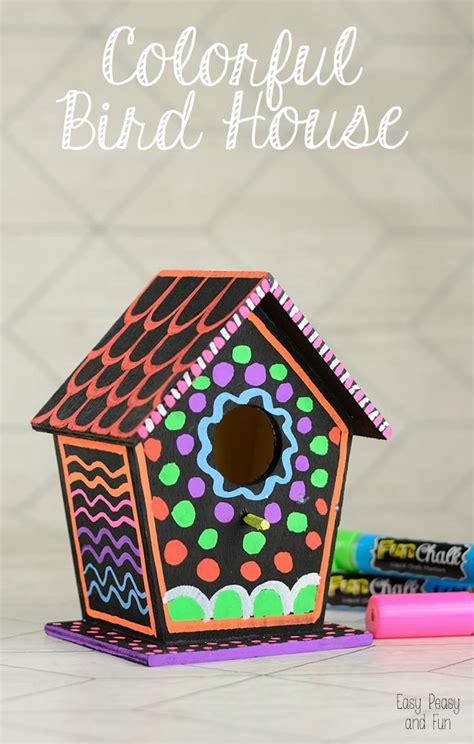 diy colorful bird house easy peasy  fun