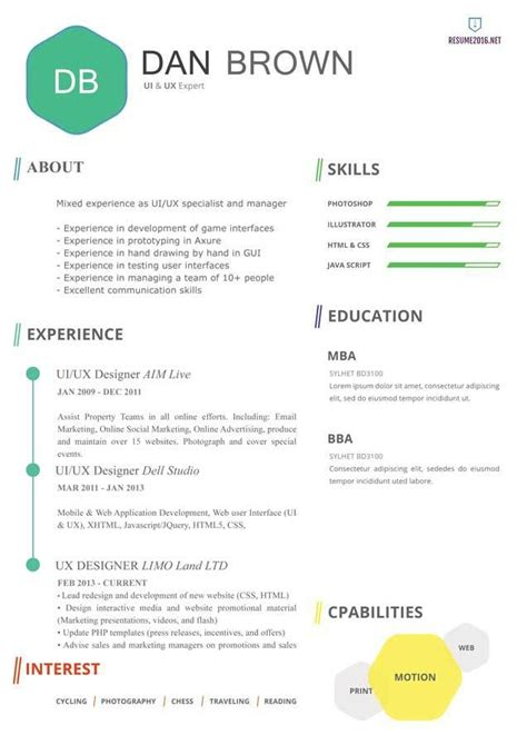 professional resume template 2016 best professional