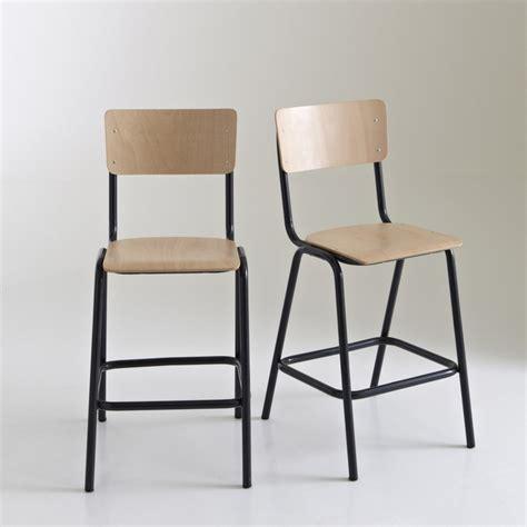 chaise haute la redoute chaise haute style écolier mi hauteur lot de 2 autre