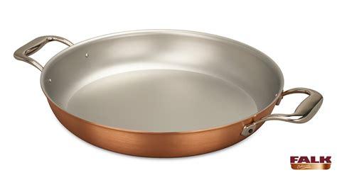 signature range cm copper paella pan falk copper cookware