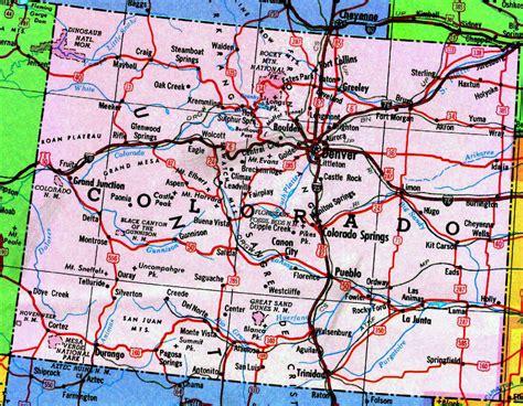 highways map  colorado state colorado state highways